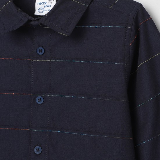 MAX Striped Full Sleeve Casual Shirt