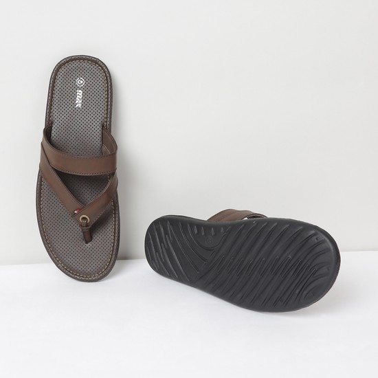 MAX Solid V-strap Casual Slippers