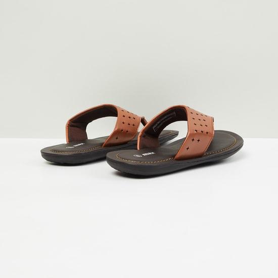 MAX Cutwork V-strap Slip-Ons Sandals