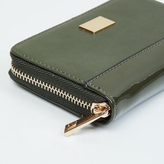 MAX Solid Zip-Around Wallet