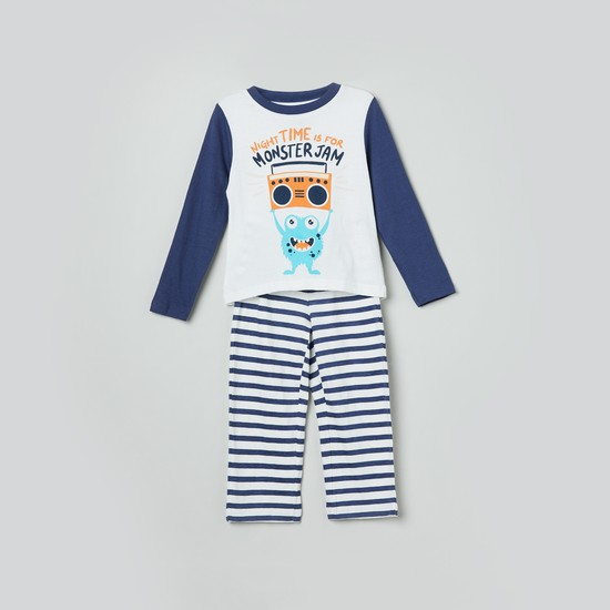 MAX Printed T-shirt and Striped Pyjamas