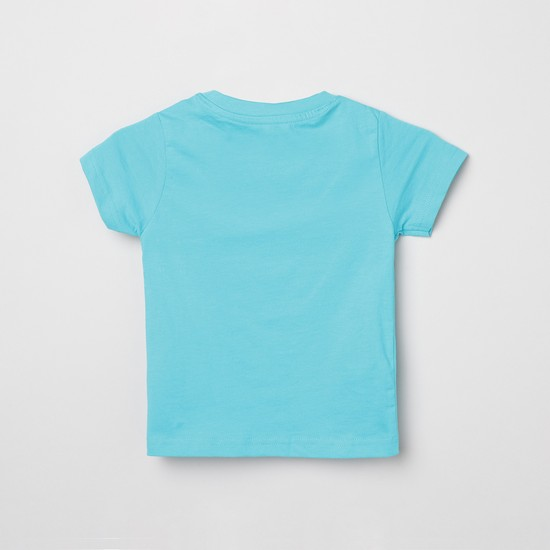 MAX Printed Crew Neck T-shirt with Shorts