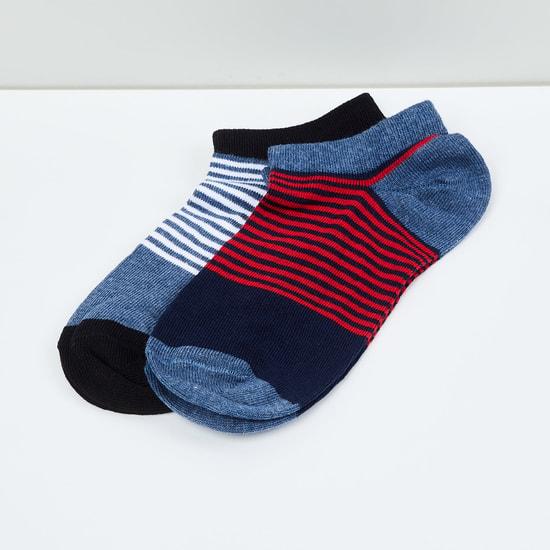 MAX Kids Striped Socks - Pack of 2 - 10-12 Y