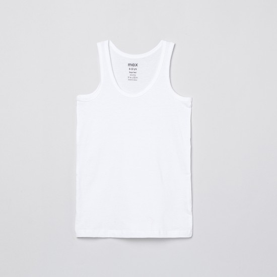 MAX Solid Sleeveless Vest- Pack of 2