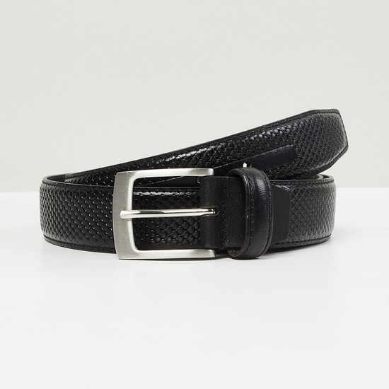 MAX Textured Formal Leather Belt