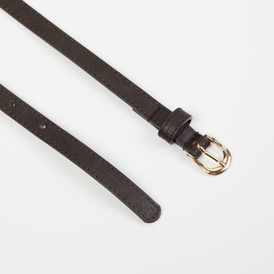 MAX Genuine Leather Textured Casual Belt