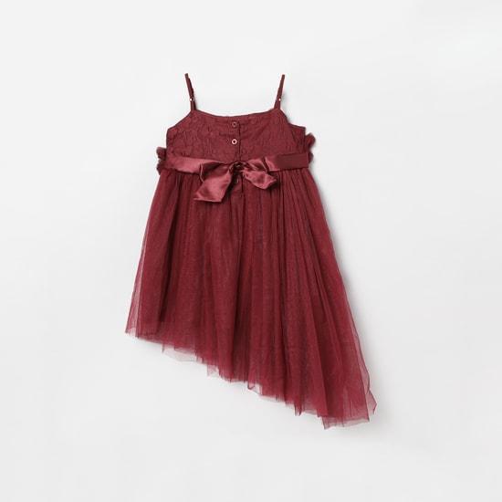 MAX Floral Applique Camisole Asymmetric Dress