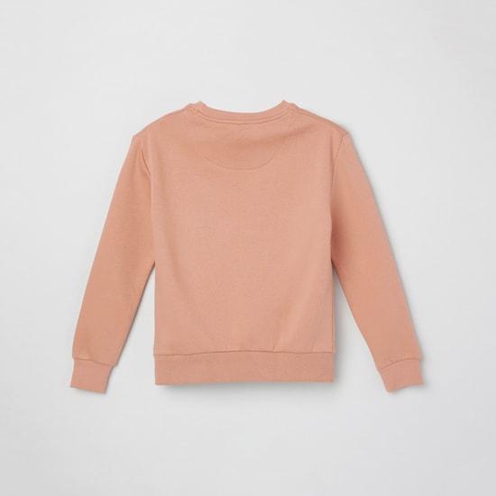 MAX Applique Detail Crew Neck Sweatshirt