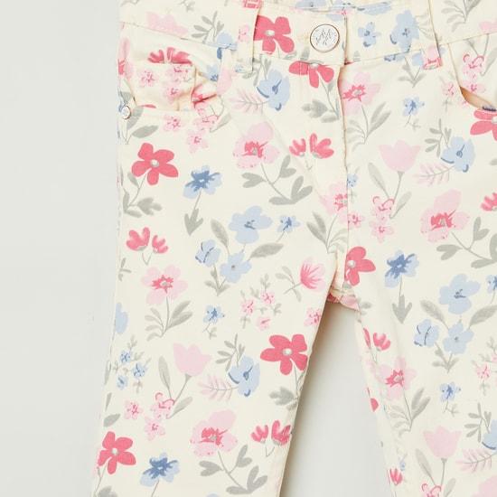 MAX Floral Printed Regular Fit Trousers