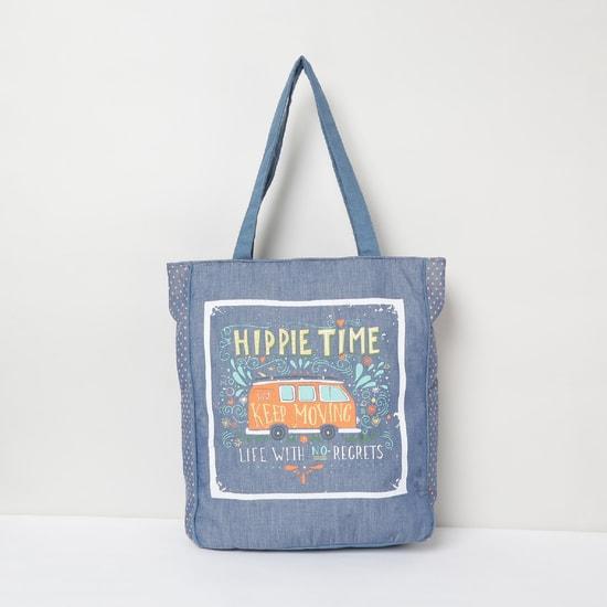 MAX Graphic Print Polka Dot Tote Bag