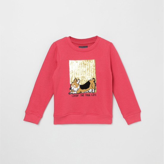 MAX Sequinned Crew Neck Sweatshirt