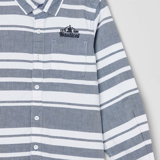 MAX Striped Full Sleeve Shirt with Applique
