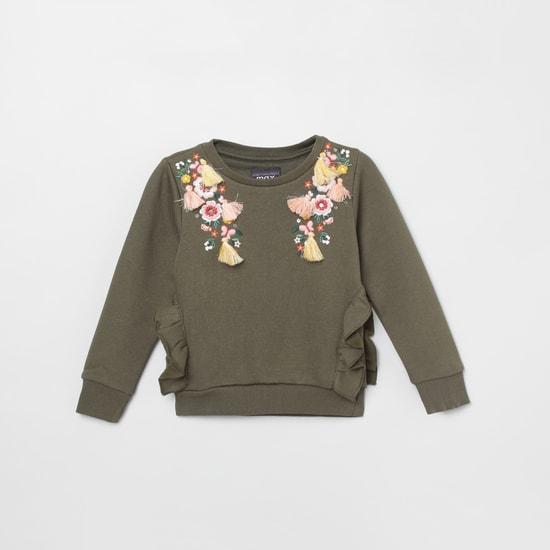 MAX Embroidered Round Neck Sweatshirt