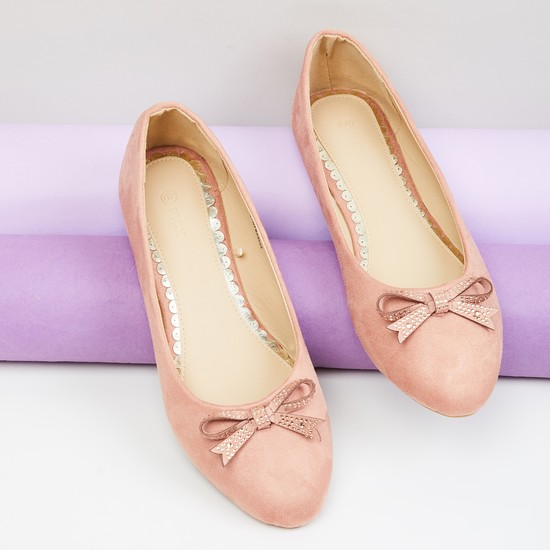 MAX Embellished Bow Detail Ballerinas