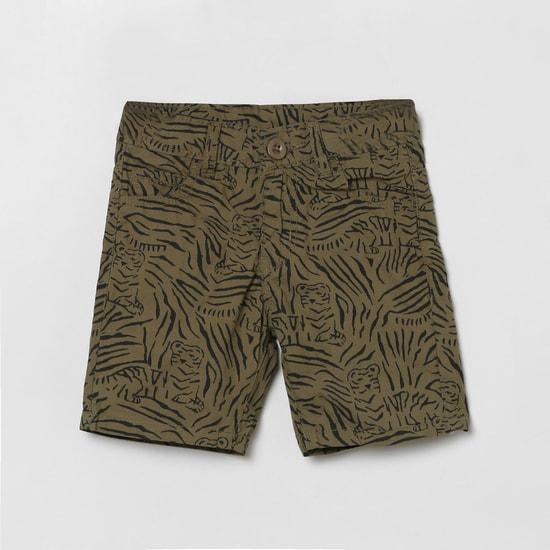 MAX Animal Print Woven Shorts
