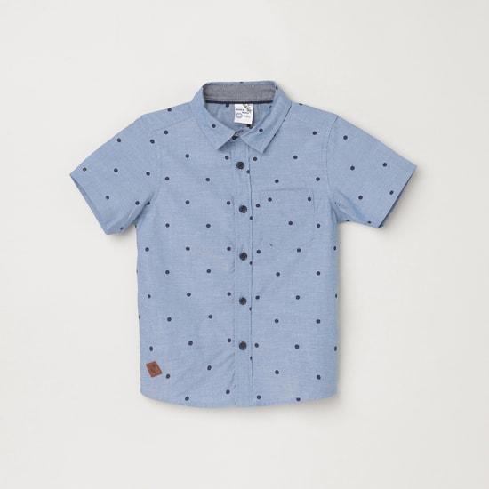 MAX Polka Dot Print Regular Fit Casual Shirt