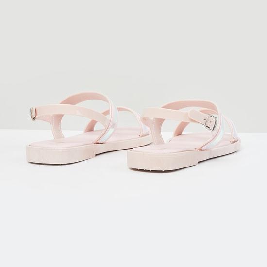 MAX Solid Open-Toe Sandals