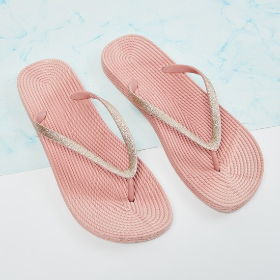 MAX Shimmery Textured Slippers