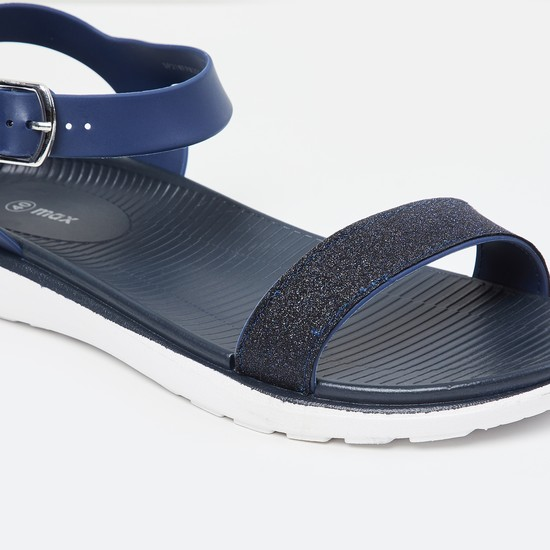 MAX Shimmery Open-Toe Sandals