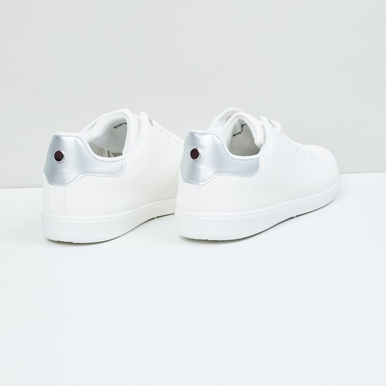 MAX Textured Lace-Up Sneakers