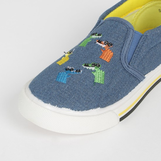MAX Appliqued Slip-On Canvas Shoes