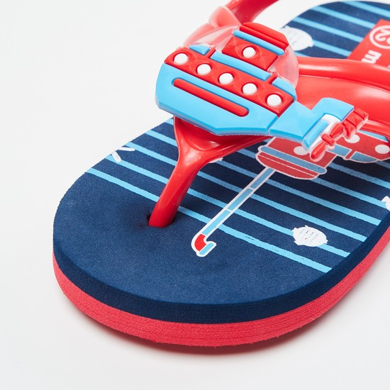MAX Printed Sling Back Slippers