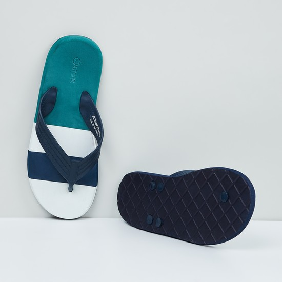 MAX Striped V-strap Slippers