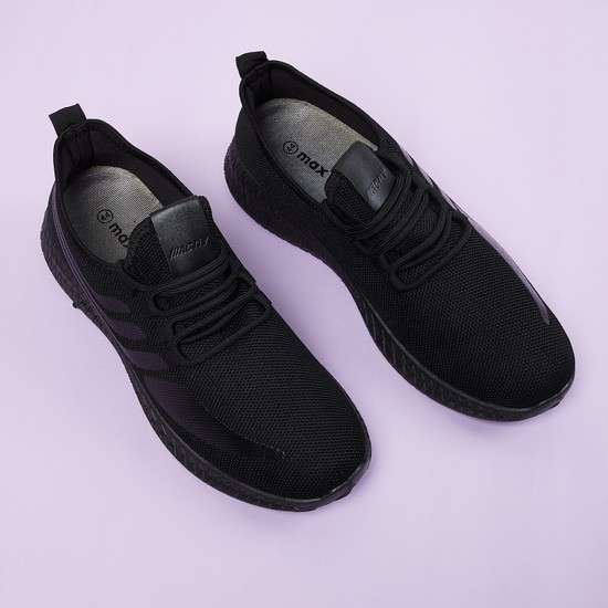MAX Printed Mesh Lace-Up Casual Shoes