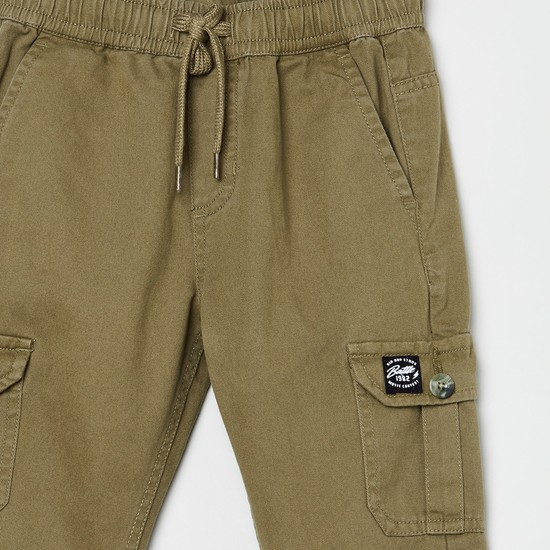 MAX Solid Full length Cargos Trousers