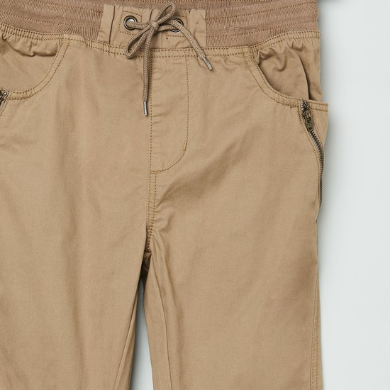 MAX Solid Full Length Elasticated Trousers