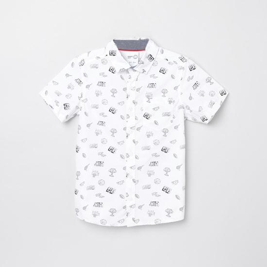 MAX Printed Short Sleeves Casual Shirt
