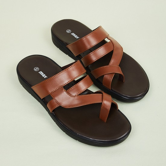 MAX Solid One-Toed Sandals