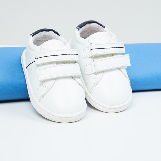 MAX Solid Velcro-Strap Sneakers