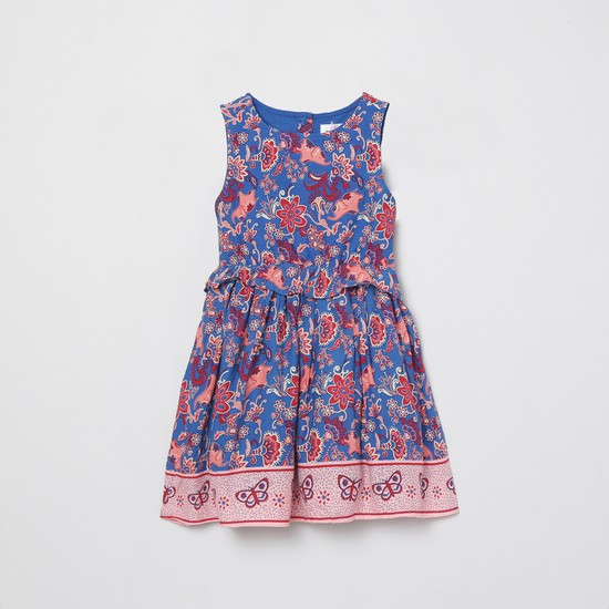 MAX Printed Layered A-line Dress