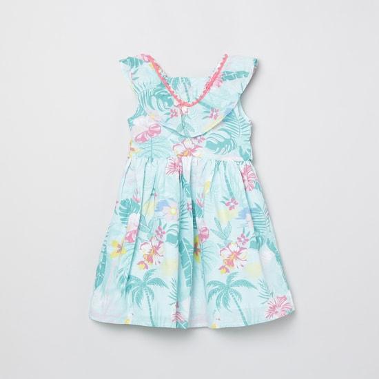 MAX Printed Ruffle Detail A-line Dress