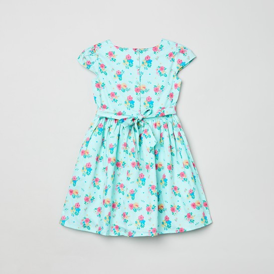 MAX Floral Print Fit and Flare Dress