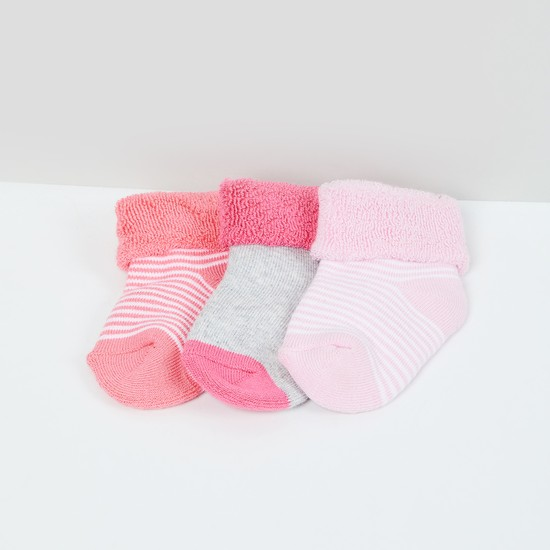 MAX Patterned Knit Socks - Pack of 3- 0-6 M