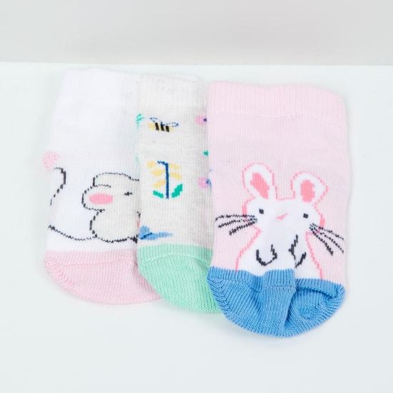 MAX Patterned Knit Socks - Set of 3- 0-6 M
