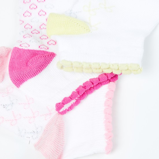 MAX Patterned Knit Socks - Pack of 3- 1-2 Y