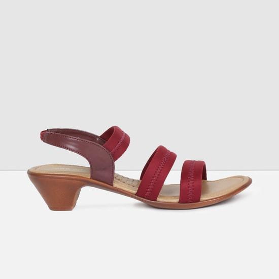 MAX Solid Backstrap Cone-Heel Sandals