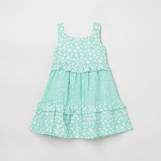 MAX Printed Sleeveless A-line Dress