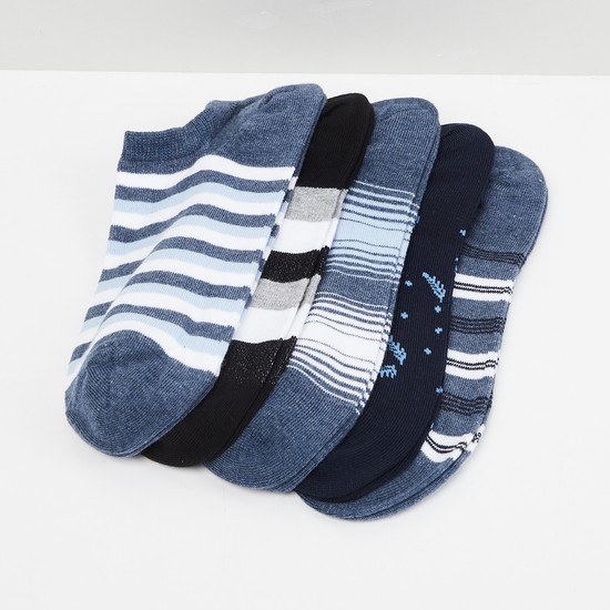 MAX Striped Ankle-Length Socks - Set of 5 Pairs