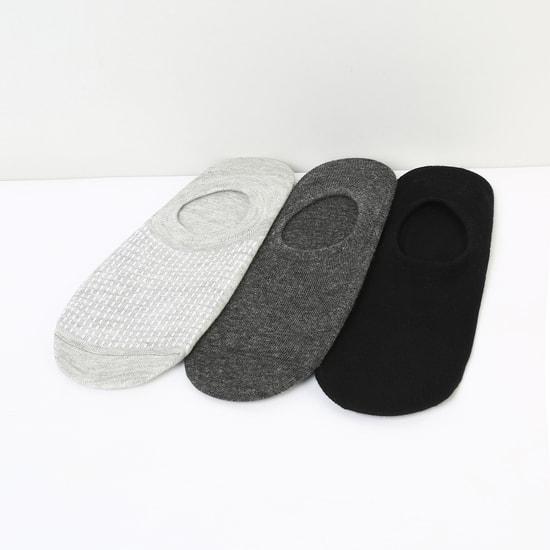 MAX Solid No-Show Socks - Set of 3