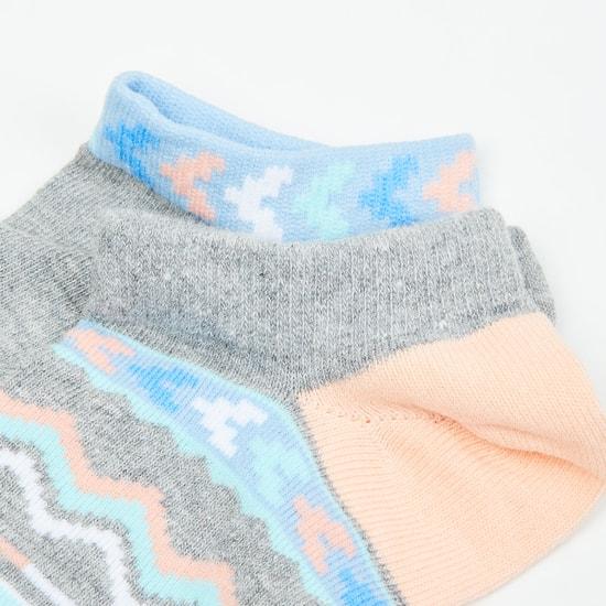 MAX Patterned Ankle-Length Socks - Set of 2- 10-12 Y