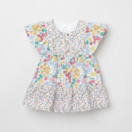 MAX Floral Print Round Neck Dress