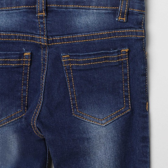 MAX Embroidered Stonewashed Slim Fit Jeans