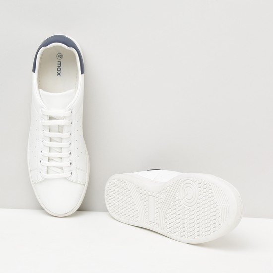 MAX Solid Lace-Up Casual Shoes
