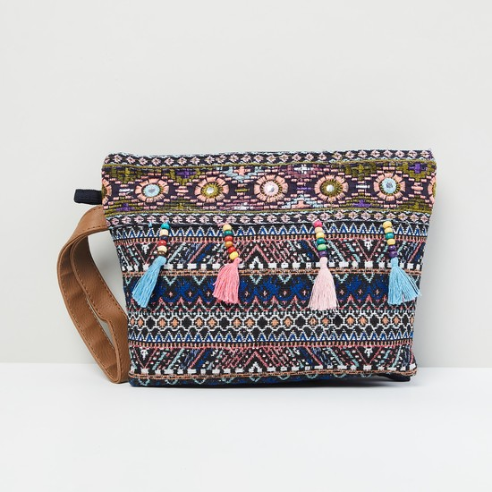 MAX Embroidered Zip-Closure Pouch