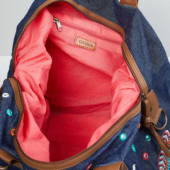 MAX Mirror Embellished Shoulder Bag