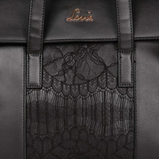 LAVIE Lace Panel Handbag